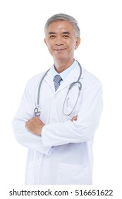 Portrait of smiling senior Taiwan doctor