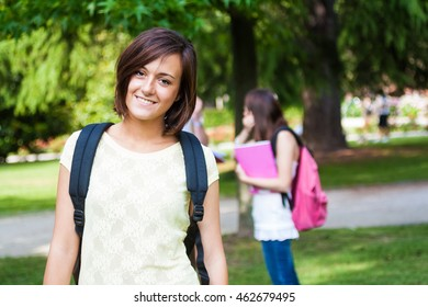 Portrait of a smiling student