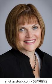 Portrait Of Smiling Stylish Business Woman
