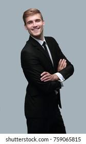 portrait of smiling successful businessman