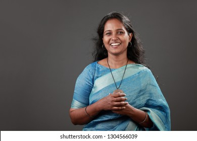 Portrait of a smiling woman of Indian origin