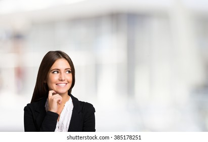 aeab2c0c0eb Portrait of a smiling woman