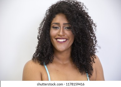 Portrait of smiling young black woman