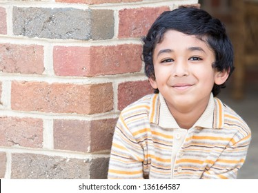Portrait of a Smiling Young Boy