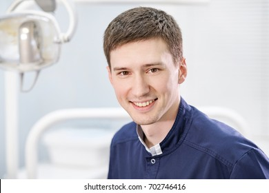 Portrait of smiling young male doctor