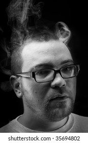 Portrait with smoke