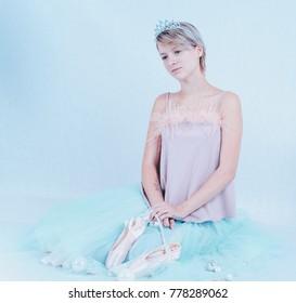 Portrait of snowy princess