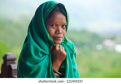 Portrait of south-east asian looking young woman