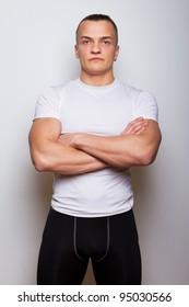 Portrait of sportsman in sport wear