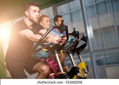Portrait of sportsmens at gym