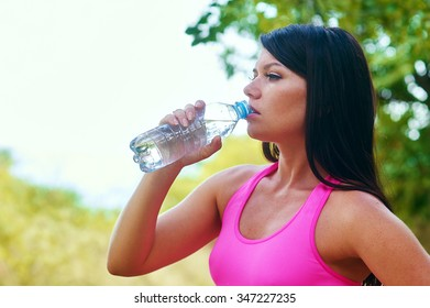 Portrait of sporty young girls having fitness fun outdoors