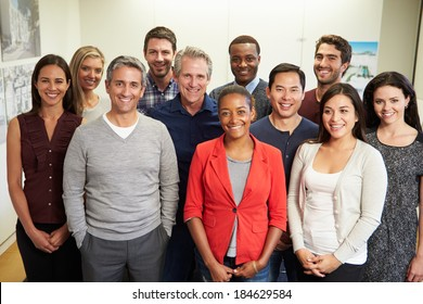 Portrait Of Staff In Modern Multi-Ethnic Office