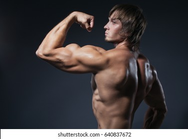Portrait of strong healthy handsome Athletic Man Fitnes