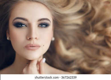 Portrait of a stunning blonde beauty