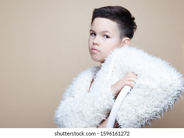 Portrait of stylish asian kid