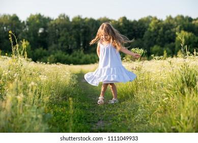 Portrait of stylish long hair girl enjoy summertime