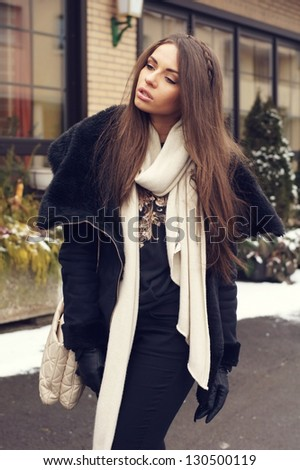355c51f7b Portrait Stylish Young Girl Black Clothes Stock Photo (Edit Now ...