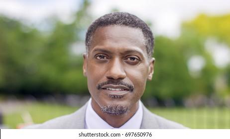Portrait of successful black male business man