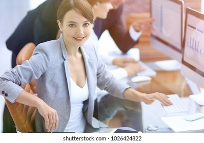 portrait of successful business women in the workplace