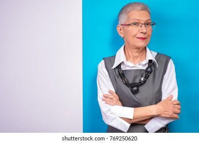 Portrait of a successful senior business woman