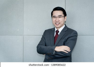 portrait of a successful young asia businessman