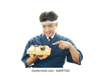 Portrait of a sushi chef
