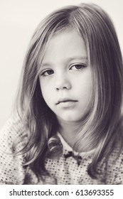 portrait of the sweet and cute  little girl