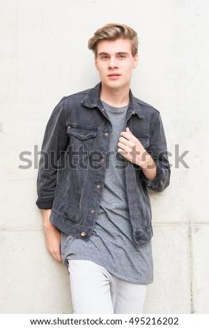 Teen male fashion models