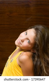Portrait Teen girl isolated on white