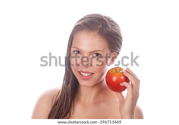 Portrait Teen Girl Nude Makeup Clean Stock Photo (Edit Now) 296713469