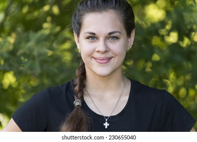 A Portrait of a teen girl outdoors