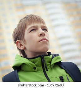 Portrait of teen, outdoor