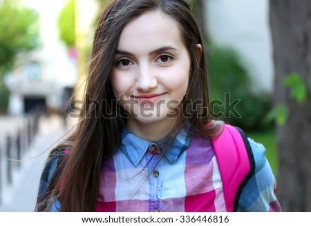 portrait teenage girl stock photo edit now 336446816 shutterstock