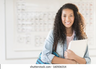 Portrait of teenage student