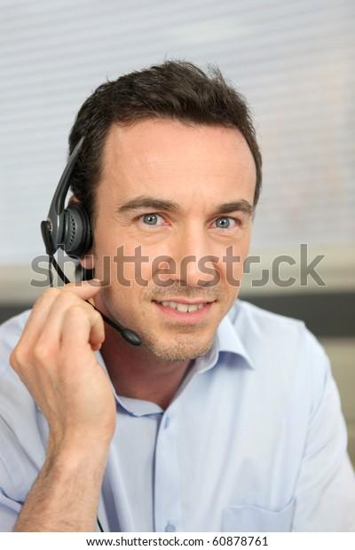 Portrait of a telemarketer