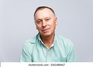 Portrait of a thinking elderly man