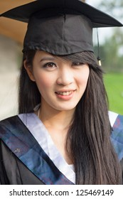 Portrait of a thoughtful graduation student
