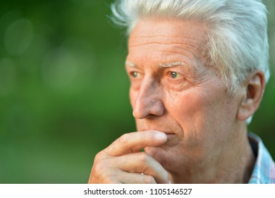 portrait of thoughtful senior man