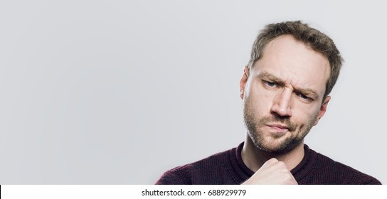 Portrait of an Thoughtfull man