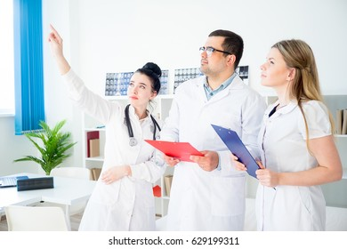 Portrait of three doctors