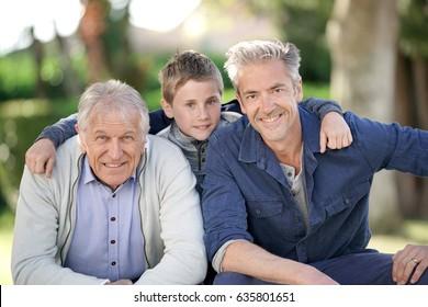 Portrait of three men generation