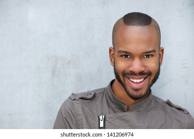 Portrait of a trendy young african american man smiling