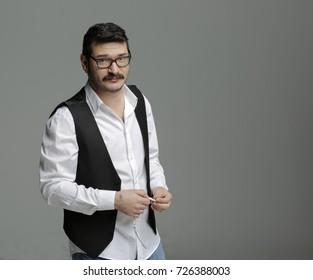 Portrait of Turkish man standing