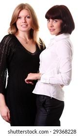 Portrait of two adult women