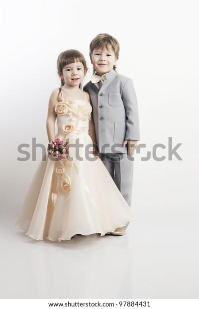 Portrait Two Beautiful Little Boys Girls Stock Photo Edit Now