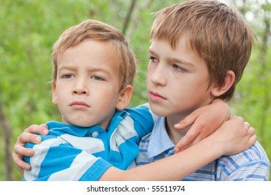 Portrait of two boys.