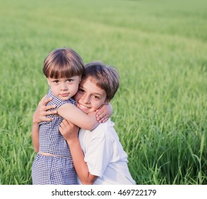 Portrait of two boys outdoor
