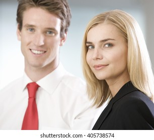 Portrait of two business colleagues