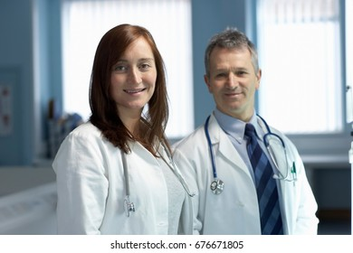 Portrait of two doctors