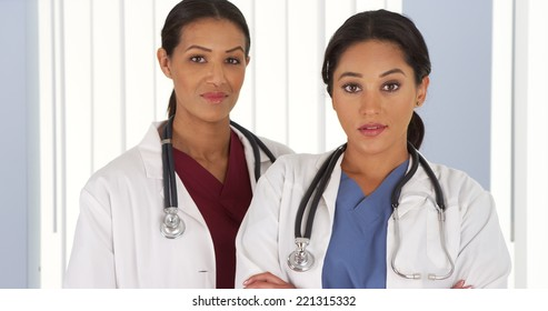 Portrait of two female Medical professionals in hospital